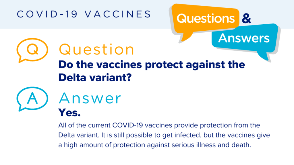 Q & A Protection against the delta variant
